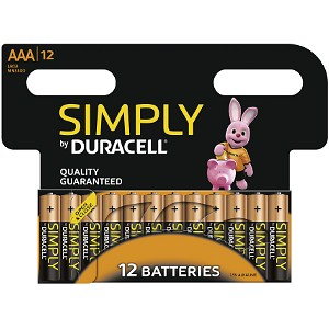 Duracell Simply Budget AAA 12 Pack