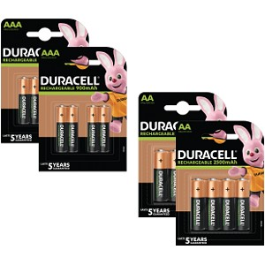 Duracell Pre-Charged AA & AAA balení 16