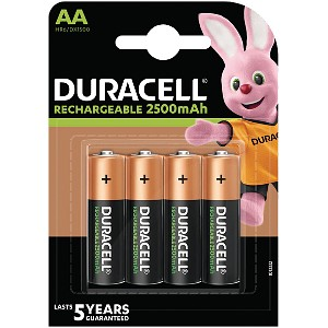Duracell AA 2500mAh PreCharged