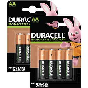 Duracell AA 2500mAh PreCharged x 8