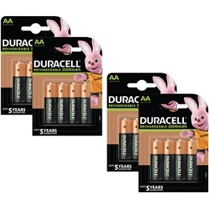 Duracell AA 2500mAh PreCharged x 16